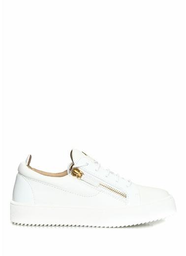 Giuseppe Zanotti Giuseppe Zanotti Gail  Logolu Kadın Deri Sneaker 101624557 Beyaz